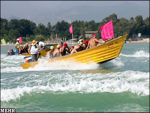 مسابقات شنای آبهای آزاد کشور کپورچال نوشهر